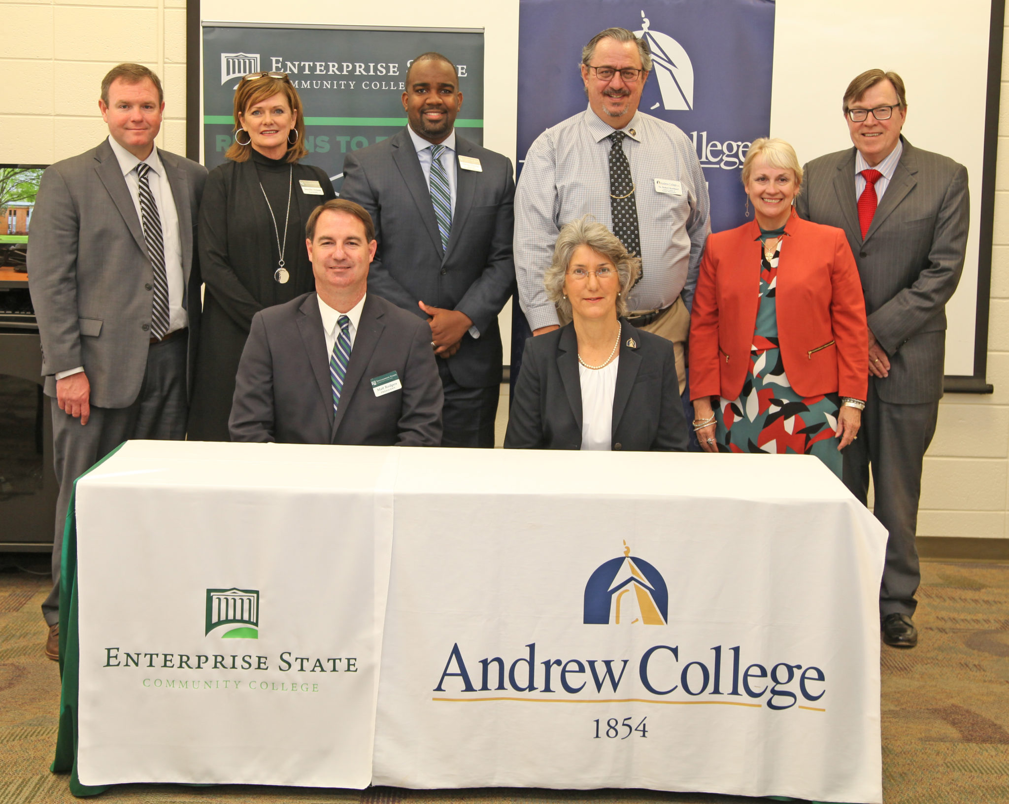 Enterprise State Community College and Andrew College sign articulation agreement