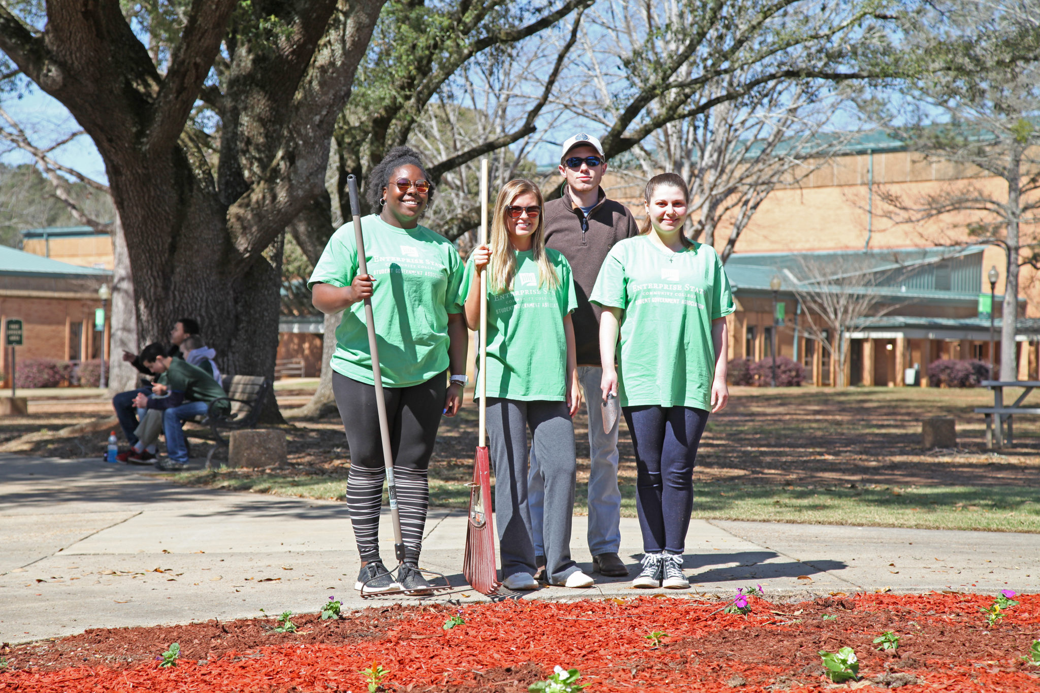 ESCC's Student Government Association use proceeds from fall event into beautification project