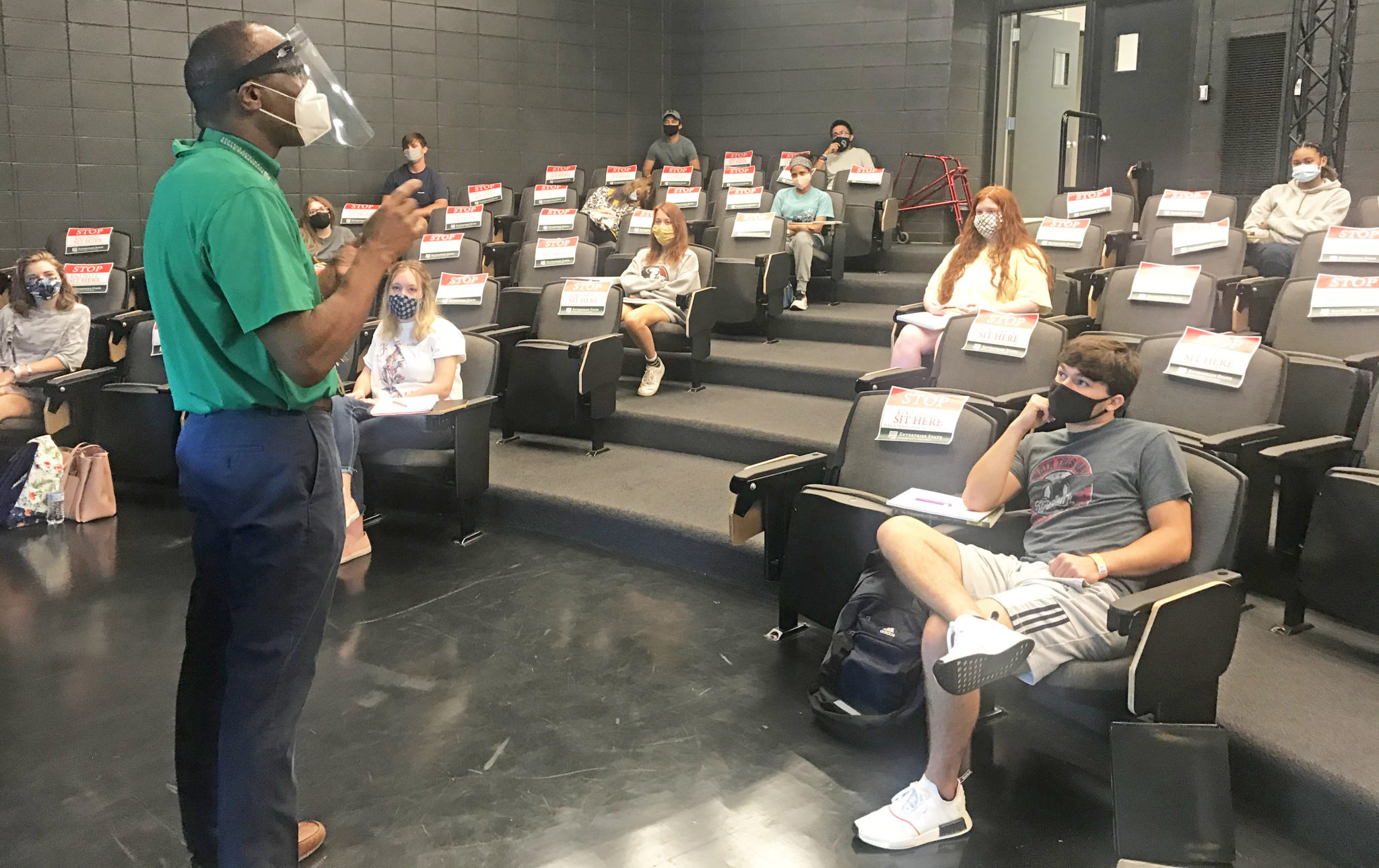 Students return to campus for class at ESCC