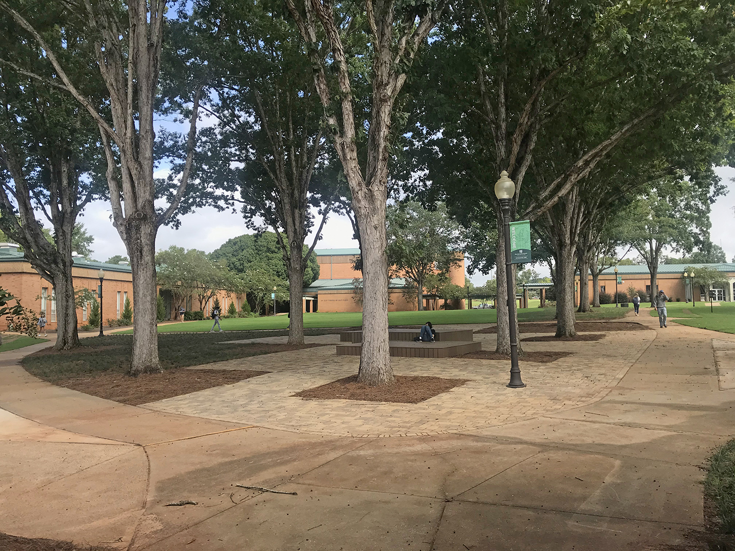 Courtyard complete on Enterprise State campus